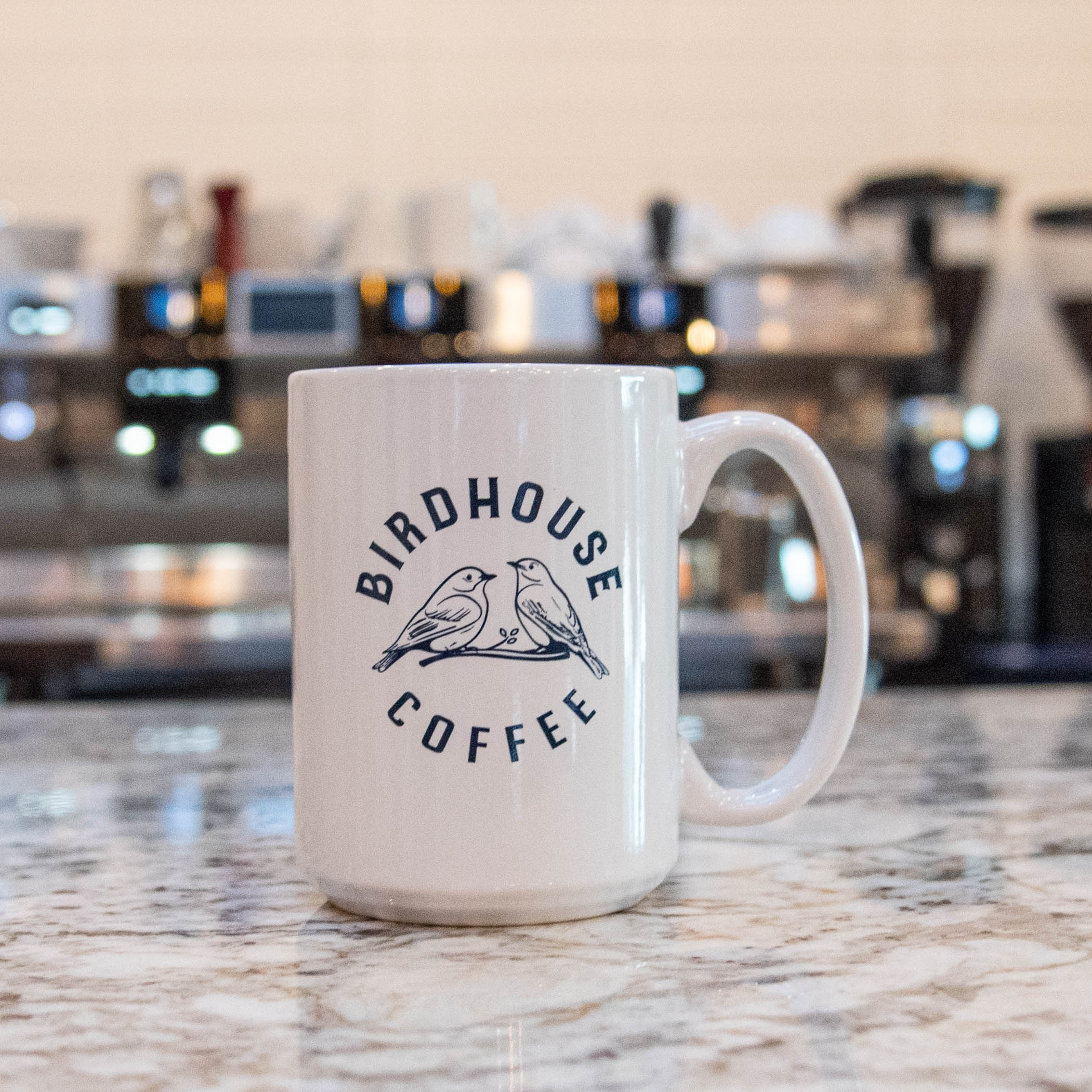 Birdhouse Coffee Logo Mug