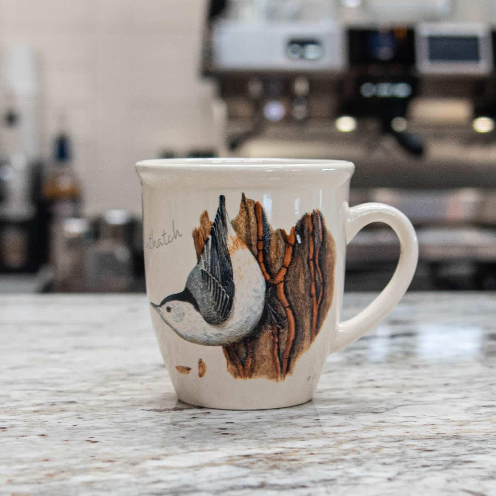 Bird Mug – White Breasted Nuthatch