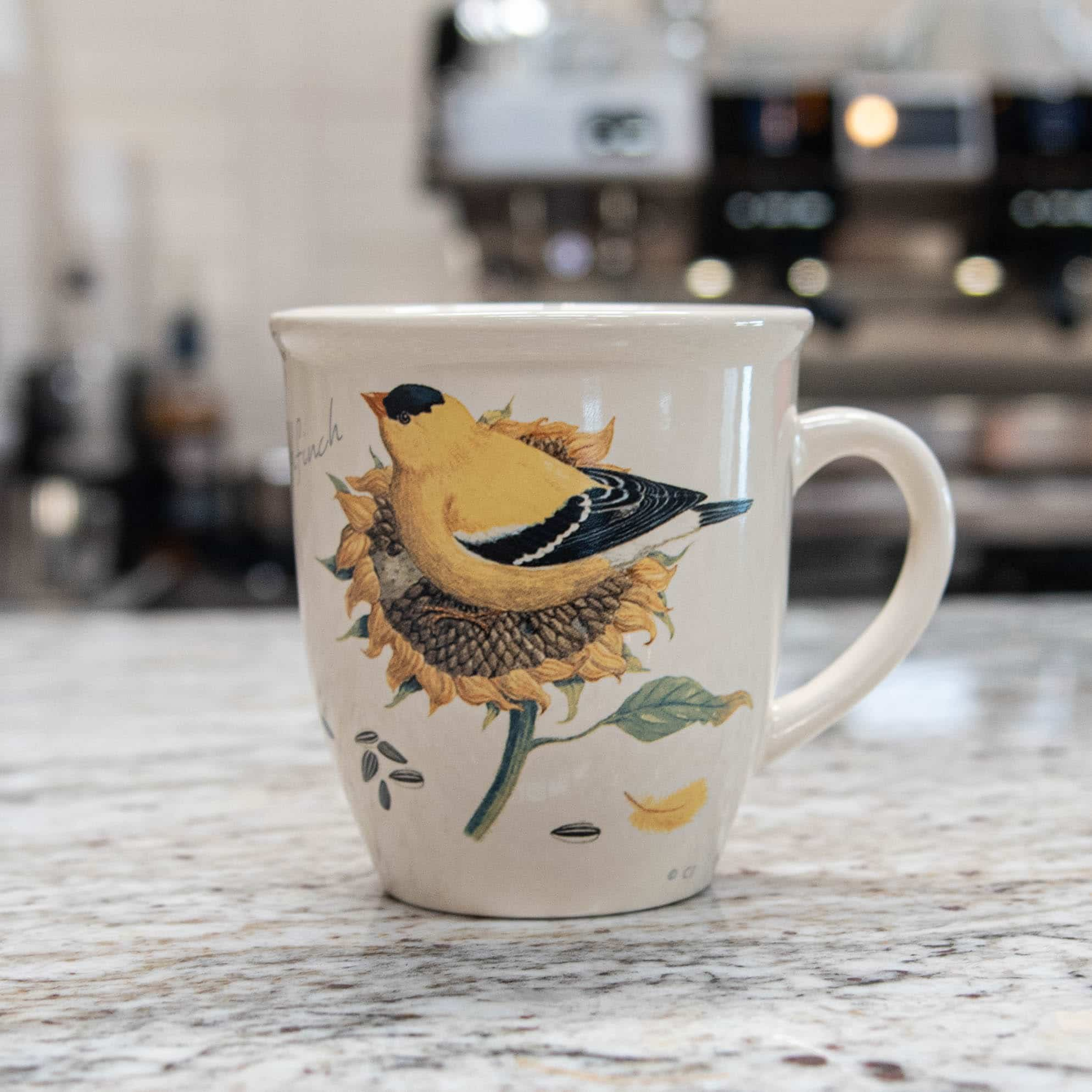 Bird Mug – American Goldfinch