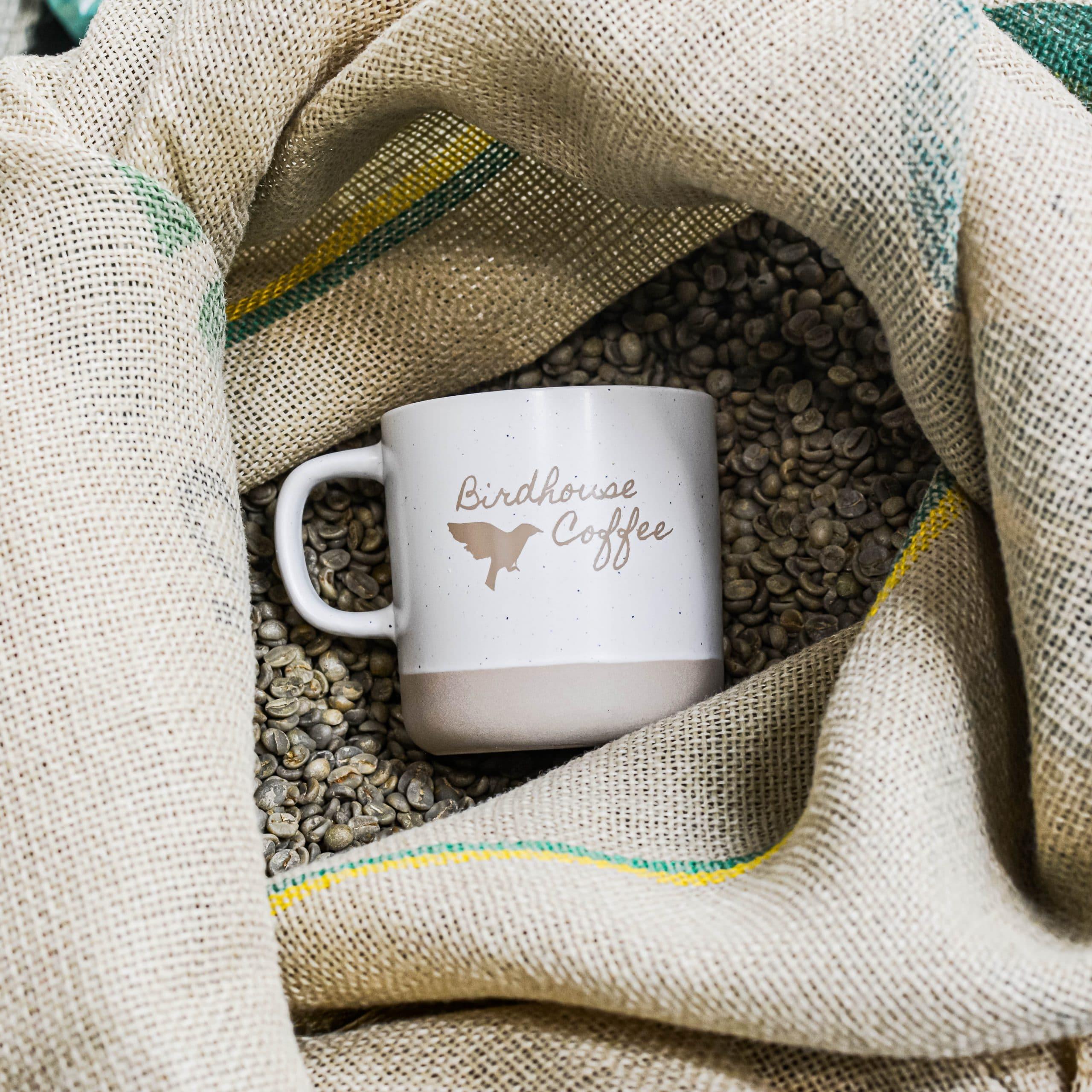 Ceramic Birdhouse Mug