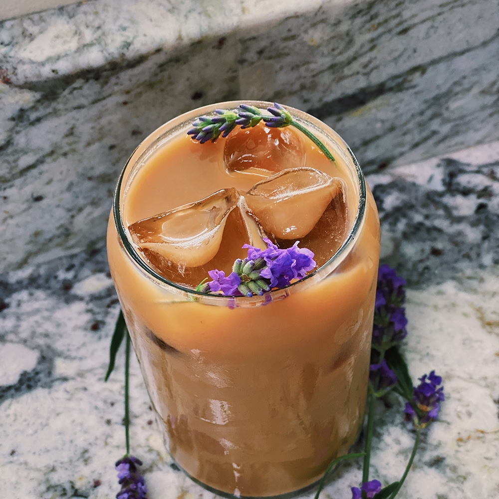 Iced French Lavender Latte